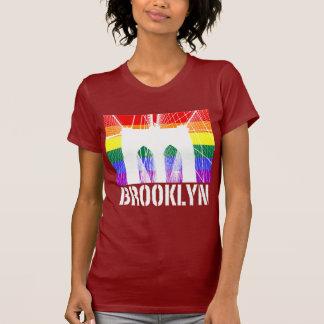 Brooklyn Bridge silhouette pride 3 dark T Shirts