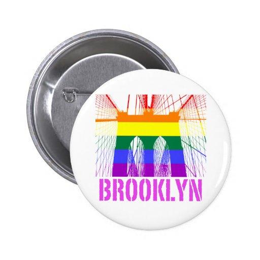Brooklyn Bridge silhouette pride Pinback Buttons