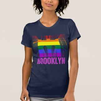 Brooklyn Bridge silhouette pride Tees
