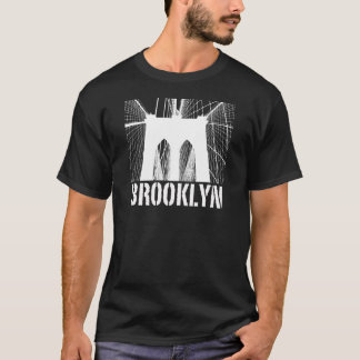 Brooklyn Bridge silhouette white T-Shirt