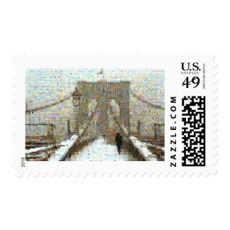 Brooklyn Bridge, Snowy Day Postage