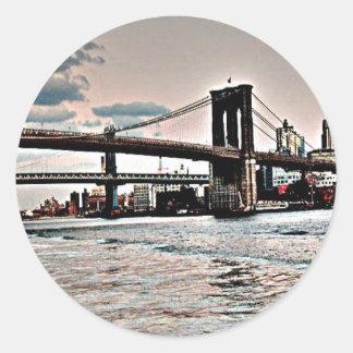 Brooklyn Bridge Classic Round Sticker