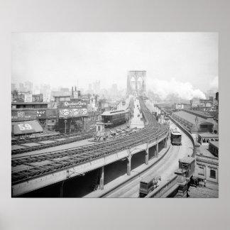 Brooklyn Bridge Terminal, 1903 Poster