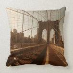 Brooklyn Bridge. Throw Pillow