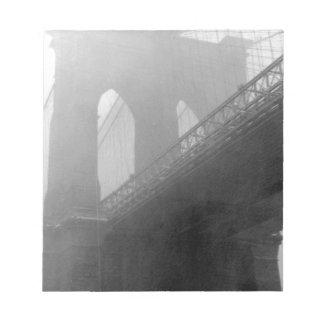 Brooklyn Bridge Top-Fog Memo Pads