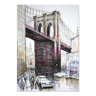 Brooklyn Bridge, USA Invitation