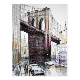 Brooklyn Bridge, USA Postcard