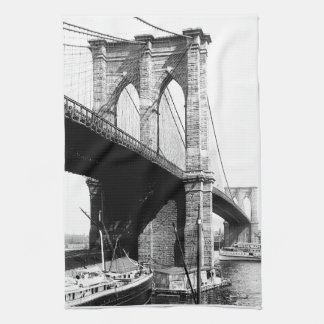 Brooklyn Bridge waterfront Kitchen Towel