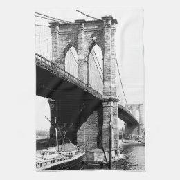 Brooklyn Bridge waterfront Towel
