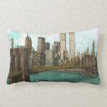 Brooklyn Bridge with Manhattan skyline Throw Pillow