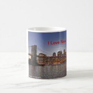 Brooklyn Bridge with New York City Skyline Coffee Mug