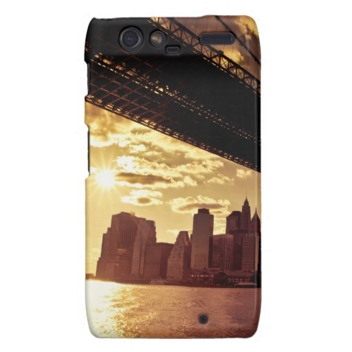 Brooklyn Bridge With New York City Skyscrapers Droid RAZR Cases