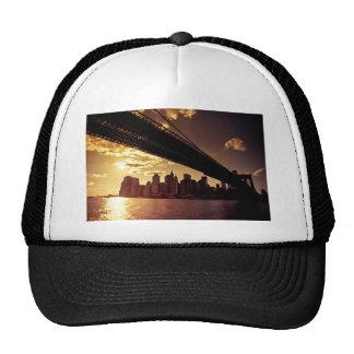 Brooklyn Bridge With New York City Skyscrapers Mesh Hats
