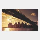 Brooklyn Bridge With New York City Skyscrapers Sticker