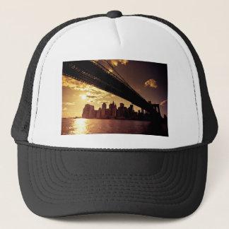 Brooklyn Bridge With New York City Skyscrapers Trucker Hat