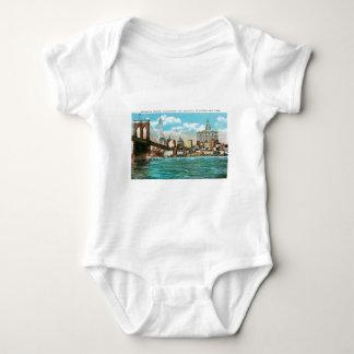 Brooklyn Bridge, Woolworth and Municipal... Baby Bodysuit