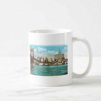 Brooklyn Bridge, Woolworth and Municipal... Classic White Coffee Mug
