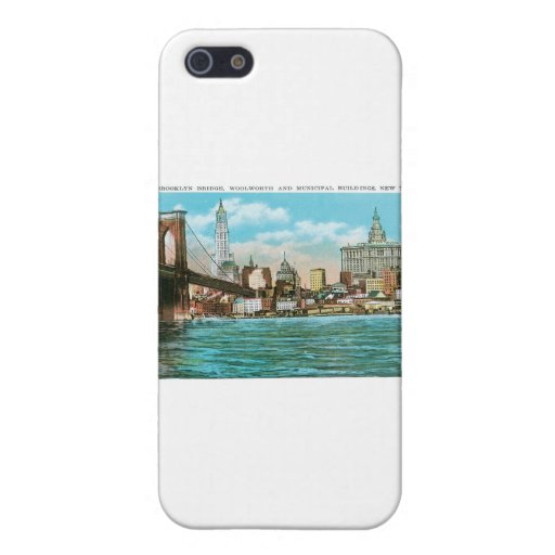Brooklyn Bridge, Woolworth and Municipal... iPhone 5/5S Case