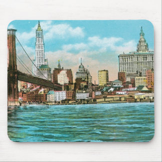 Brooklyn Bridge Woolworth and Municipal Mouse Pad