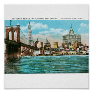 Brooklyn Bridge Woolworth and Municipal Posters