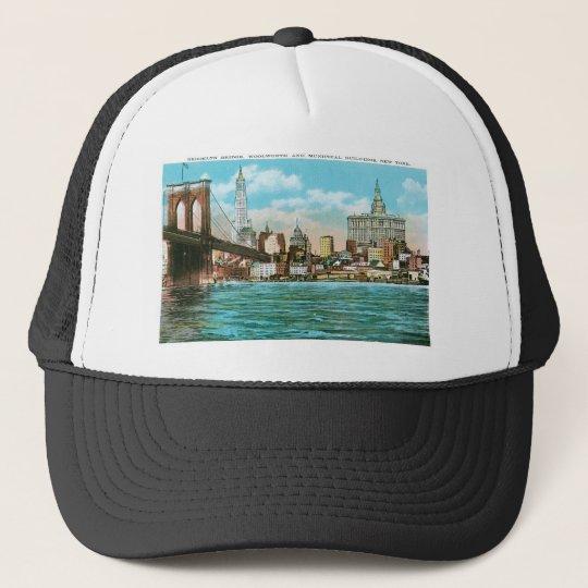 Brooklyn Bridge, Woolworth and Municipal... Trucker Hat