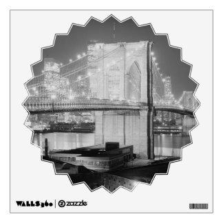 Brooklyn Brigde at Night, 1982, Black & White Wall Sticker