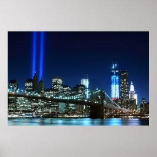 Brooklyn Brigde y las torres de luces en la noche, Impresiones