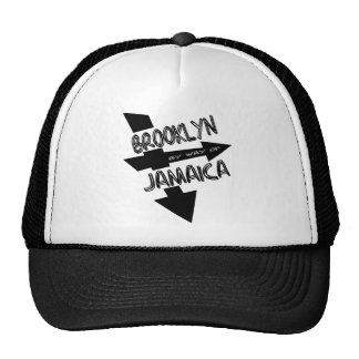 Brooklyn By Way Of Jamaica, Funky, 1-Color, Arrows Hat