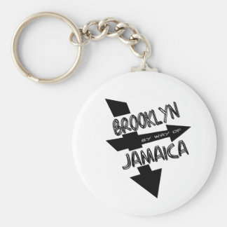 Brooklyn By Way Of Jamaica, Funky, 1-Color, Arrows Key Chain