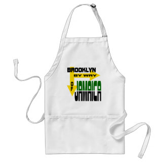 Brooklyn By Way of Jamaica With Arrows Adult Apron