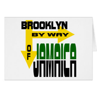 Brooklyn By Way of Jamaica With Arrows Greeting Cards