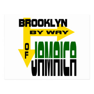 Brooklyn By Way of Jamaica With Arrows Postcard