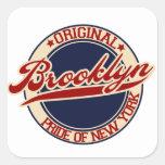 Brooklyn Calcomanía Cuadrada