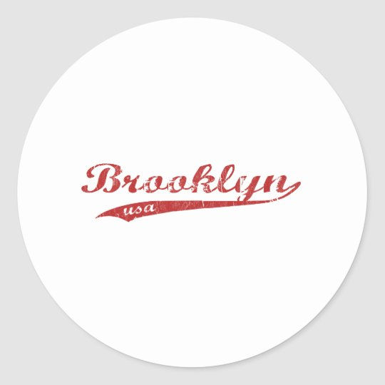 brooklyn classic round sticker