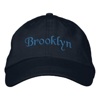 Brooklyn Embroidered Baseball Cap / Hat Blue