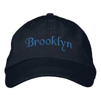 Brooklyn Embroidered Baseball Cap / Hat Blue