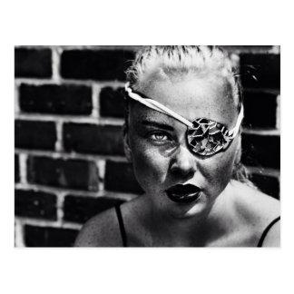 Brooklyn Eye Patch Blond Postcard