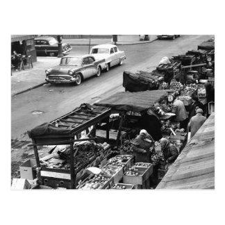 Brooklyn Farmer's Market, 1960 Postcard