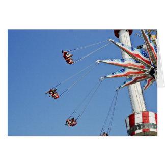 Brooklyn Flyer - Luna Park, Coney Island NYC card