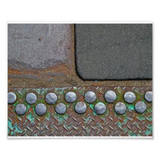 Brooklyn Ground- Corrugated Iron & Tarmac Photo Print