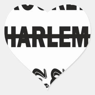Brooklyn, Harlem, Queens Pegatina En Forma De Corazón