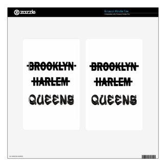 Brooklyn, Harlem, Queens Skin Para Kindle Fire