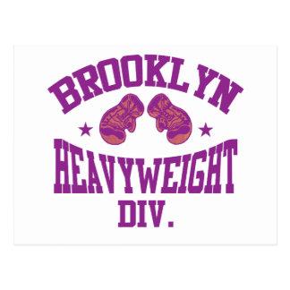 Brooklyn Heavyweight Division Purple Postcard