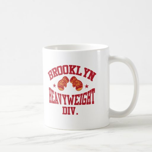 Brooklyn Heavyweight Division Red Coffee Mugs
