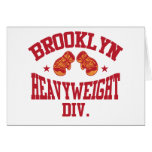 Brooklyn Heavyweight Division Red Greeting Cards