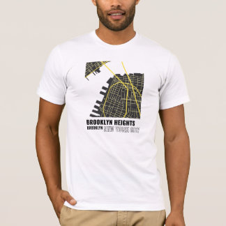 Brooklyn Heights, Brooklyn NYC T-Shirt in Yellow