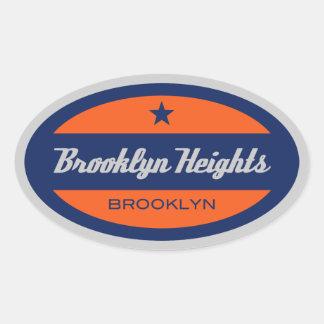 Brooklyn Heights Oval Sticker