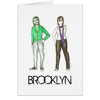 Brooklyn Hipster New York City NYC Hipsters Card