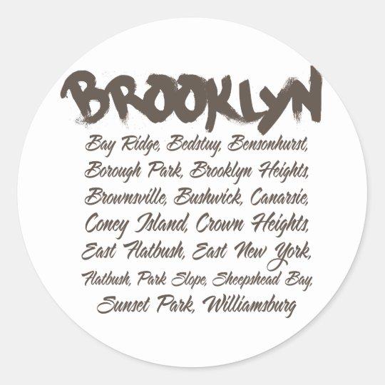 Brooklyn Hoods Classic Round Sticker