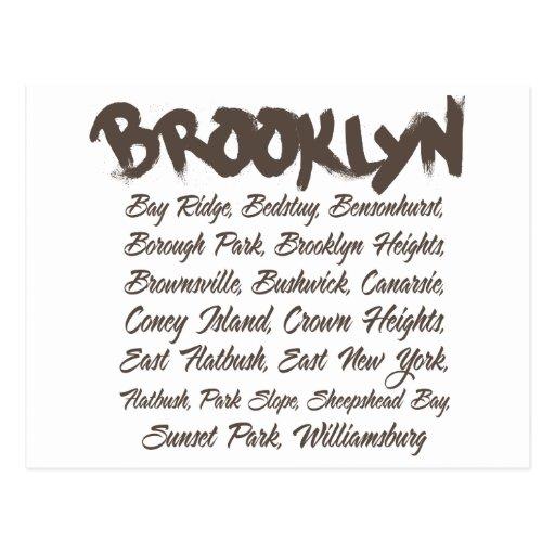Brooklyn Hoods Post Cards
